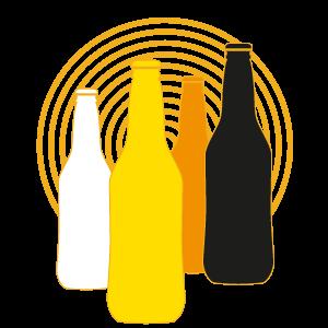 Les 5 types de bières, la blanche, la blonde, l'ambré, la noire et la spéciale de saison