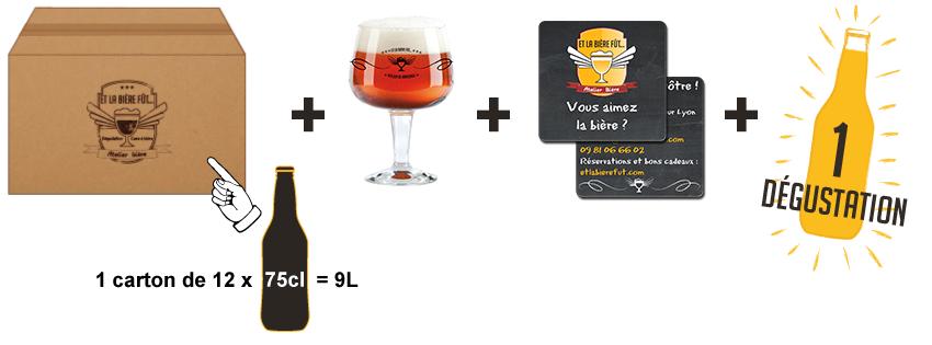 cartons de 30 bouteilles - Brassin de 9 litres + verre et sous-bock Et La Bière Fût...